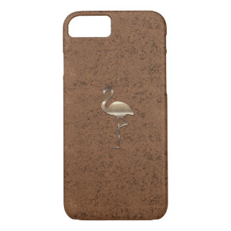 Gold  Flamingo Copper Look Case
