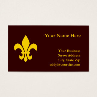 Gold Fleur de Lis Business Card