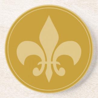 Gold Fleur-De-Lis Coasters