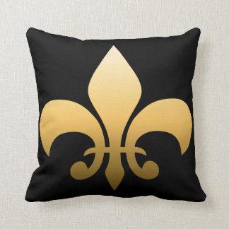 Gold Fleur de Lis Cushion