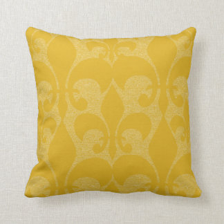Gold Fleur-de-Lis Design Pillow