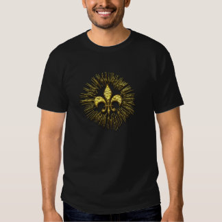Gold Fleur de Lis Fireworks Shirts