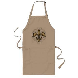 Gold Fleur De Lis, long apron