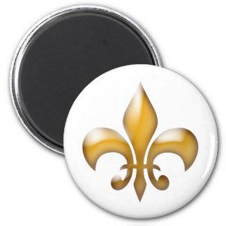 Gold Fleur de Lis Magnet