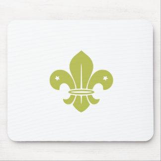 Gold Fleur De Lis Mouse Pads