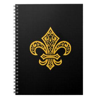 """Gold Fleur de Lis Notebook/Journal (6.5"""" x 8.75"""") Notebooks"""