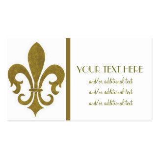 Gold Fleur De Lis Pack Of Standard Business Cards