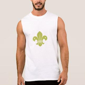 Gold Fleur De Lis Sleeveless T-shirt