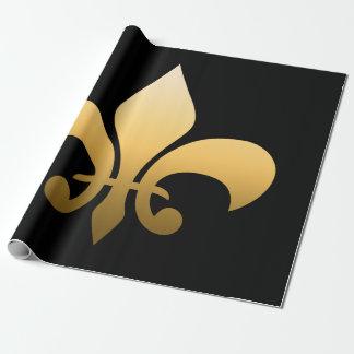 Gold Fleur de Lis Wrapping Paper