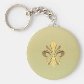 Gold fleur de lys key ring
