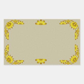Gold Floral Border Vintage Sticker