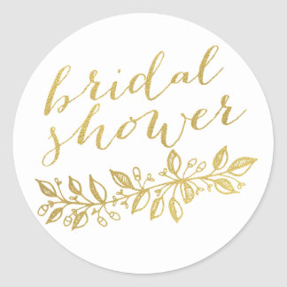 GOLD FLORAL | BRIDAL SHOWER STICKERS