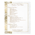 Gold Floral Lace With White Background 11.5 Cm X 14 Cm Flyer