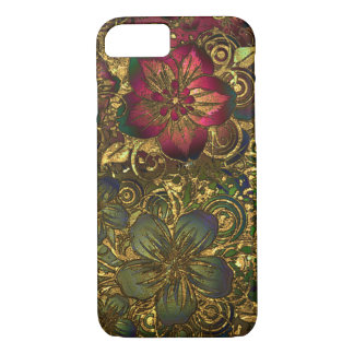 Gold floral pattern case