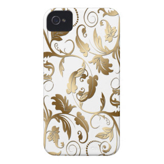 Gold Floral Patterned Customizable Case