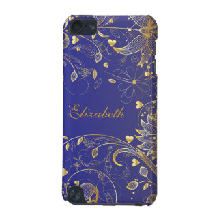 Gold Floral Purple iPod Touch (5th Generation) Case