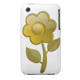 Gold Flower Blackberry Curve Case-Mate Case iPhone 3 Case
