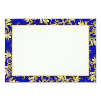 Gold flower ornament 9 cm x 13 cm invitation card