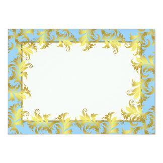 Gold flower ornament card
