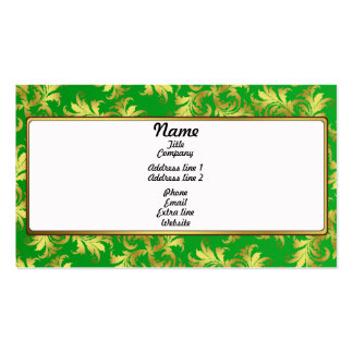 Gold flower ornament pack of standard business cards