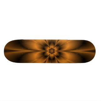 Gold Flower Skateboard
