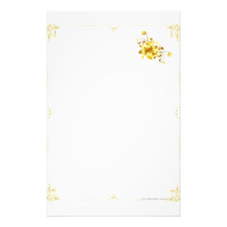 Gold Flower Stationary Stationery