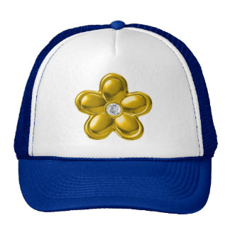 GOLD FLOWER WITH DIAMOND CAP