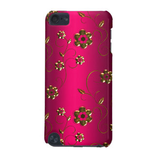 Gold Flowers on Pink iPod Touch 5G Case