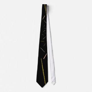 gold flutes on black tie