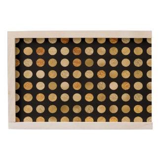 Gold Foil and Glitter Polka Dots Black
