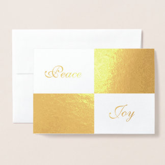 Gold Foil and White Rectangles Happy New Year Foil Card