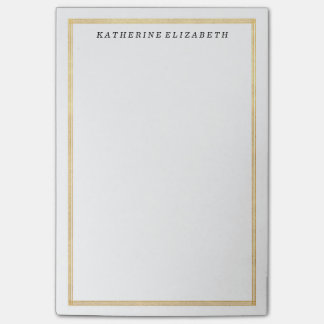 Gold Foil Art Deco Border Personalised Note Pad Post-it® Notes