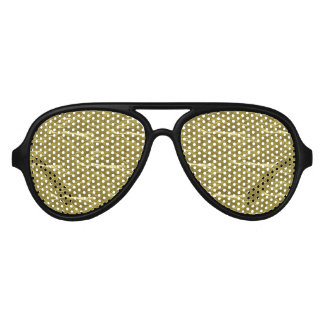 Gold Foil Aviator Sunglasses