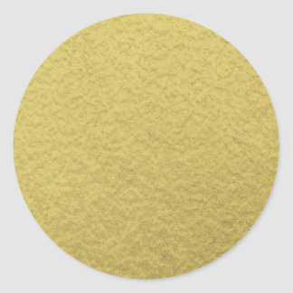 Gold Foil Background Texture Classic Round Sticker