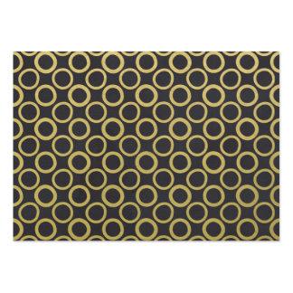 Gold Foil Black Polka Dots Pattern Business Card