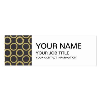 Gold Foil Black Polka Dots Pattern Business Card Templates