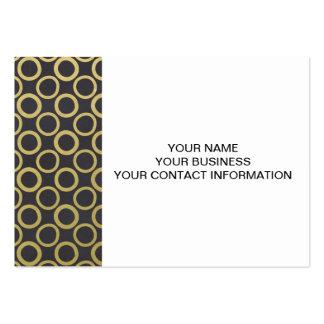 Gold Foil Black Polka Dots Pattern Business Card Template
