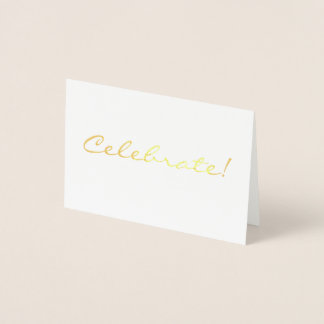 Gold Foil Celebrate Mini Card