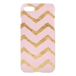Gold Foil Chevron & Pink iPhone 7 Case