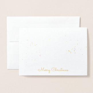 Gold Foil Christmas Snowy Forest Card
