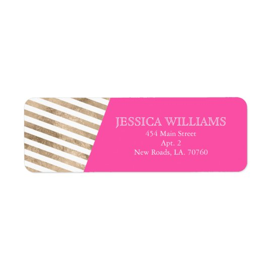 Gold Foil Colour Block Labels
