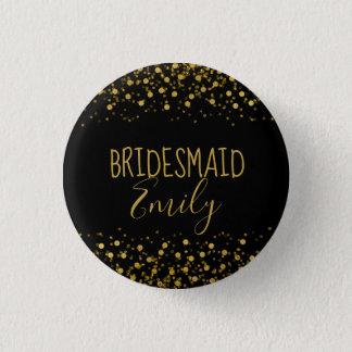 Gold Foil Confetti Bridesmaid Name Badge ID455