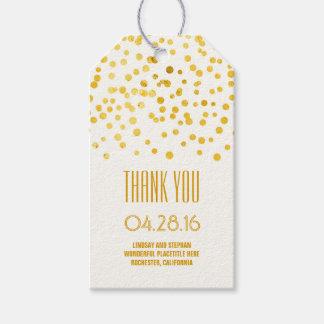 Gold Foil Confetti Elegant Wedding