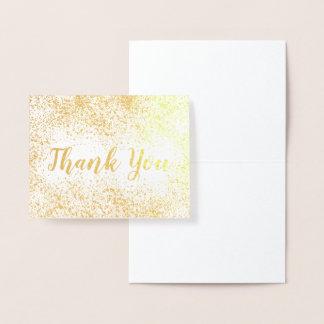 Gold Foil Confetti Thank You Foil Card