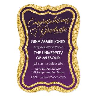 Gold Foil Congratulations Graduation Invitation