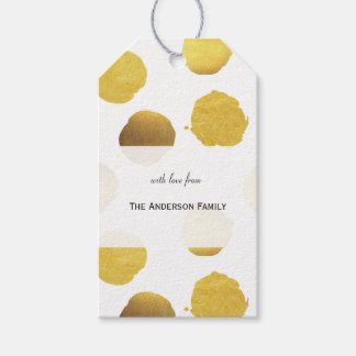 Gold foil dots gift tags 2