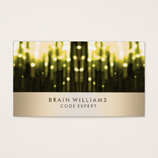 Gold Foil Faux Confetti Web Professional Elegant Business Card