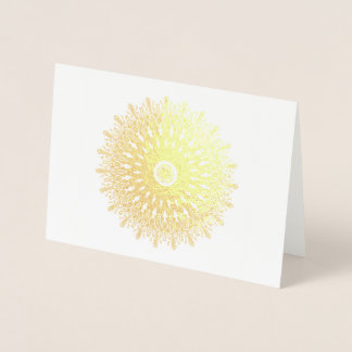 Gold foil filigree kaleidoscope fantasy foil card