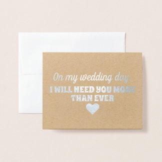 Gold Foil | Funny Bridesmaid or Maid of Honor Foil Card