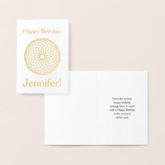 "Gold Foil ""Happy Birthday, Jennifer!"" Card"